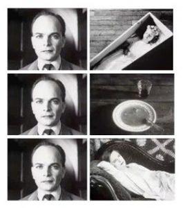 クレショフ効果の実験画像